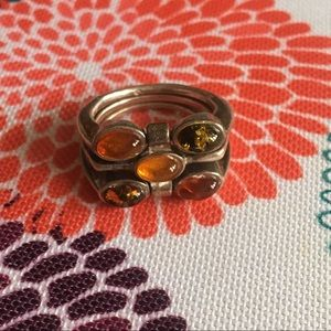 Jewelry - 3 Level Amber Ring